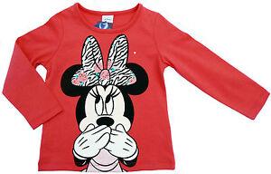 Neu-Disney-Minnie-Mouse-Langarmshirt-Shirt-Longsleeve-Glitzer-98-104-116-128