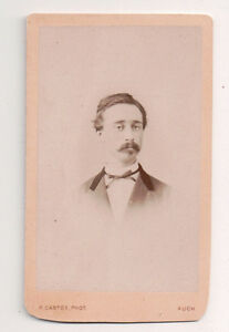 Vintage-CDV-French-Aristocratic-Young-Man-H-Cazaux-Photo-Auch