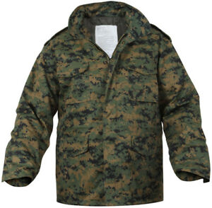 Woodland Digital Camouflage MARPAT M-65 Field Coat Army M65 Jacket w ... 0907b5a87ba