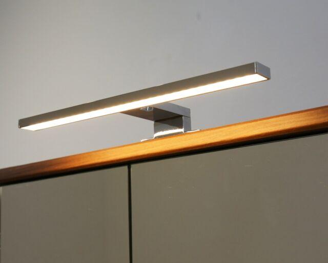 LED Aufbauleuchte Chrom warm weiß 230 Volt Spiegelleuchte Badleuchte  Art.2030