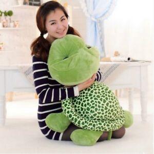 23 6 schildkr te pl sch spielzeug kissen gro augen gr n geschenk f r m dchen ebay. Black Bedroom Furniture Sets. Home Design Ideas