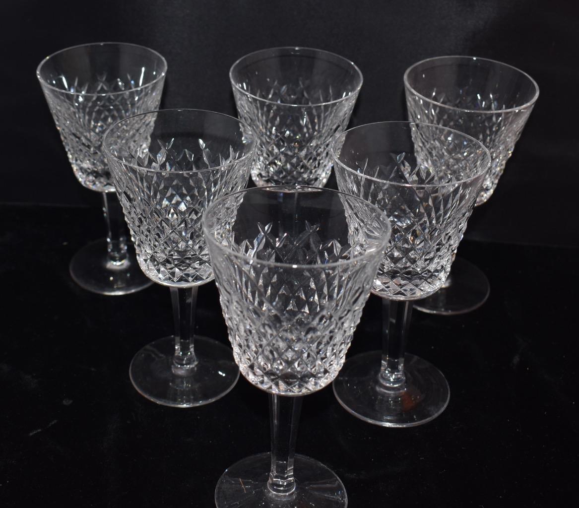 Set da 6 Waterford Cristallo Alana Vino Rosso Vino Steli - 5.75   H - Eccellente