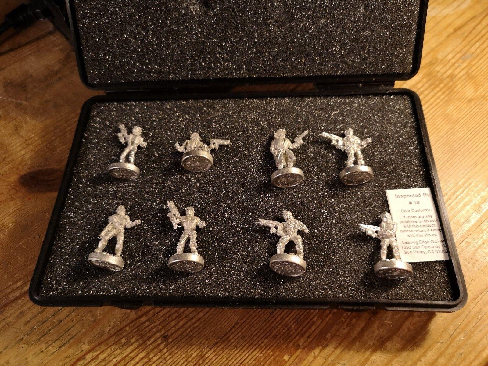 T2 TERMINATOR Metal Miniatures Infiltrators boxed set eight 25mm w case robots