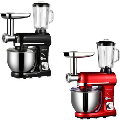3 in 1 Tilt-Head Mixer w// 7QT Bowl 6 Speeds 850W Stand  Meat Grinder Red Blender