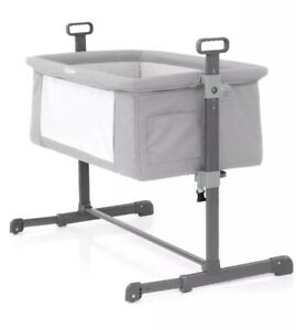 BabyStyle-Oyster-Snuggle-Bed-Infant-Bedside-Sleeper-in-Silver-New-RRP-139
