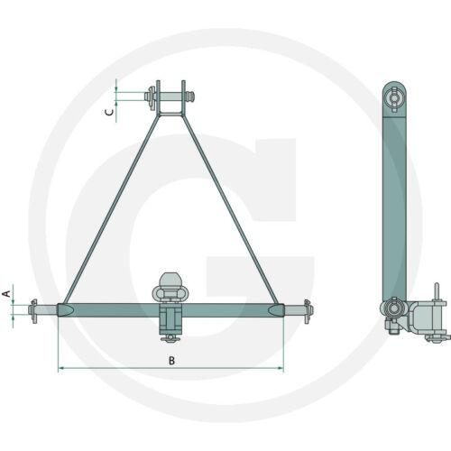 Schlepperdreieck/_Dreipunkt/_Kat.2/_812mm/_Schlepper/_Heckhydraulik