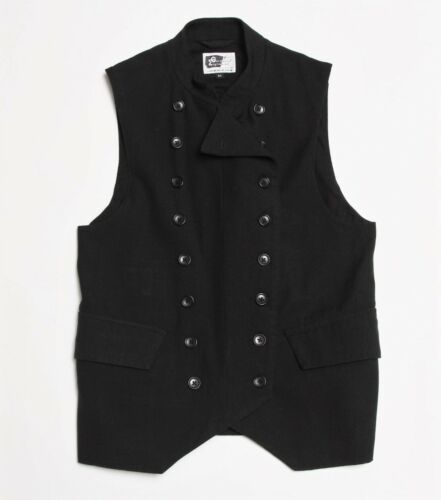 Engineered Garments Black Wool Vest Sz Medium M