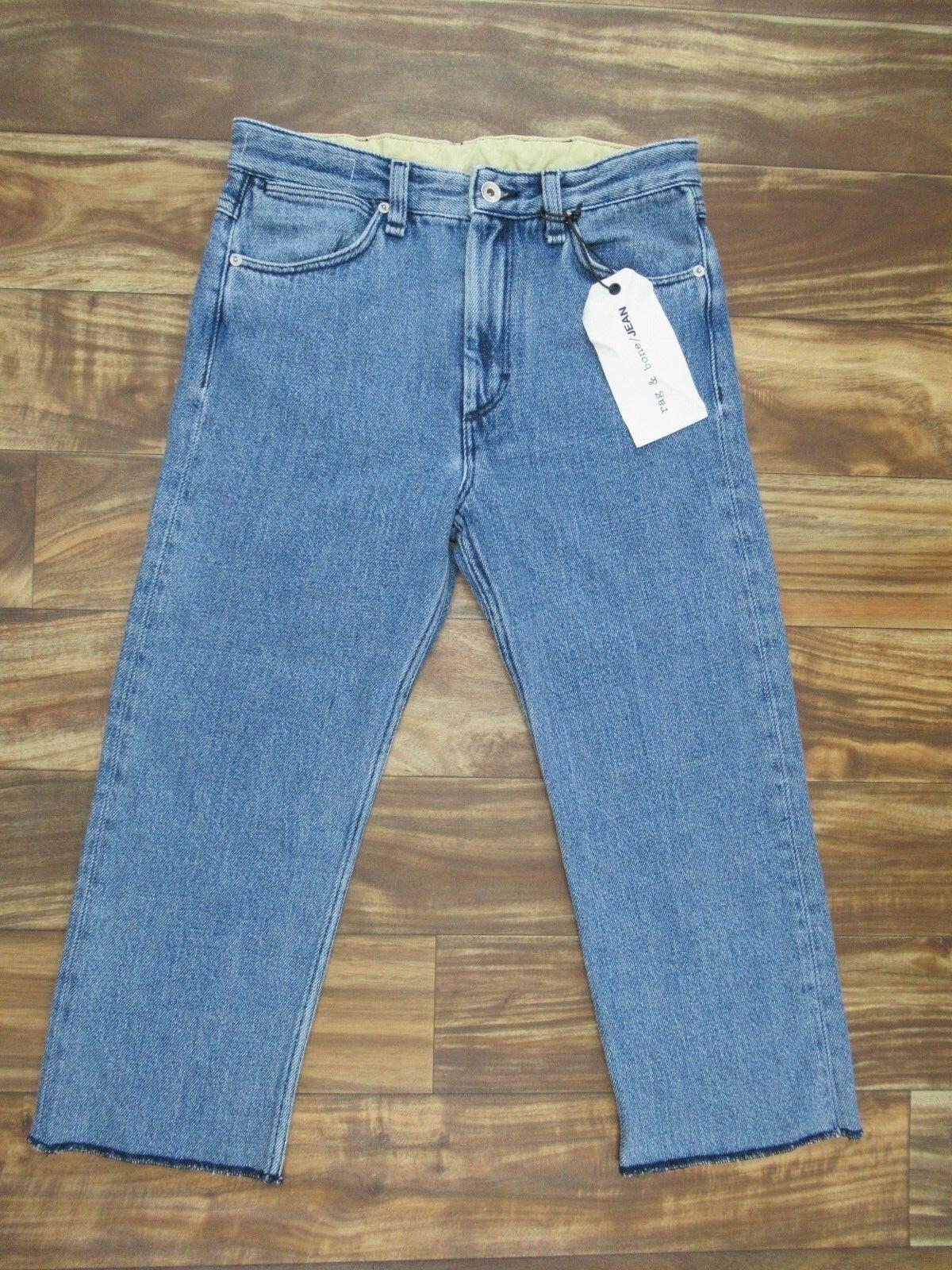 Neu  Rag & Bone  Jeans Dick Gestrickt Abgeschnitten Capri Hohe Größe Jeans