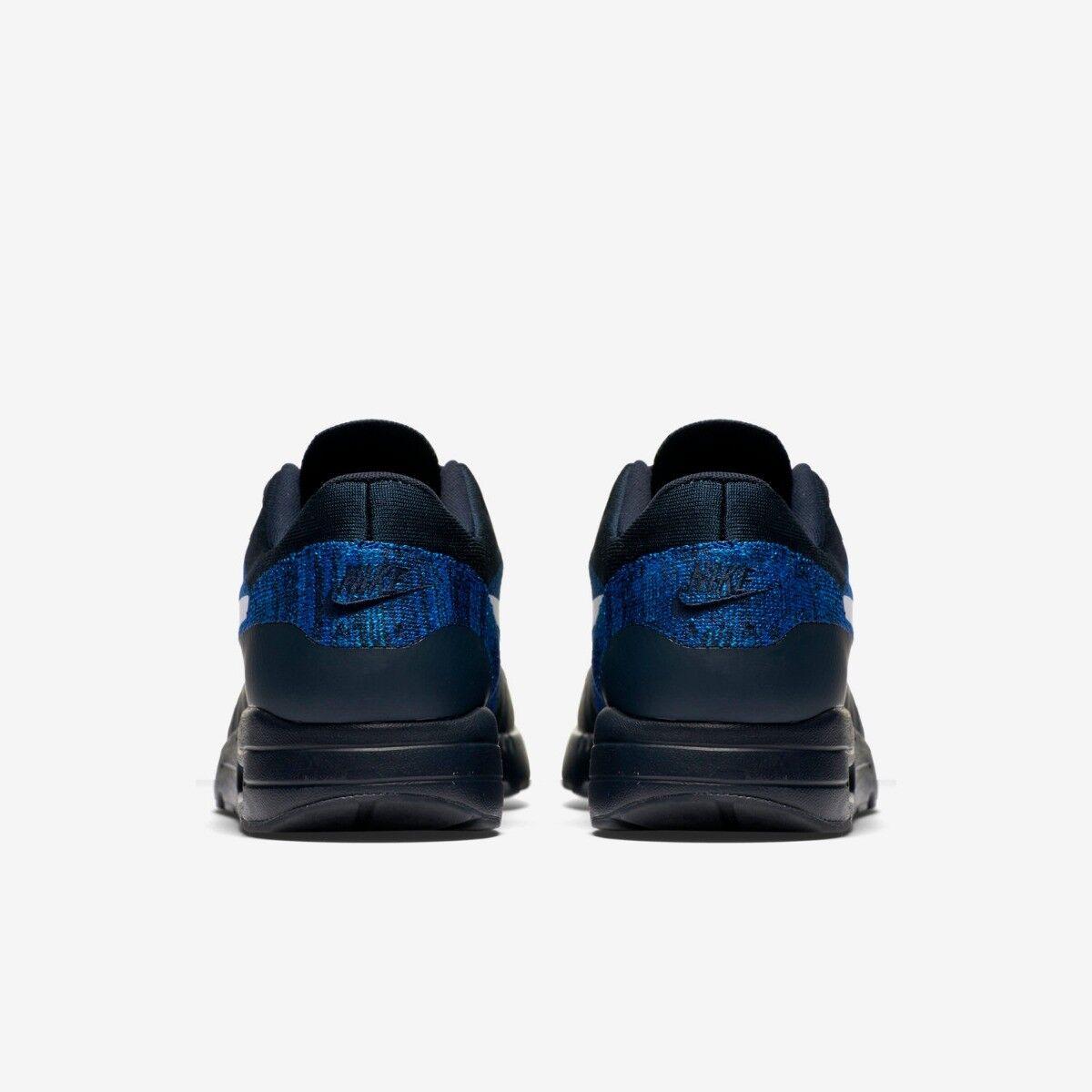 Détails sur Nike Air Max 1 Ultra Flyknit Femmes Taille 5.5 Bleu Noir Run Neuf