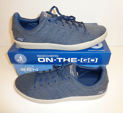 Skechers Mens Trainers Shoes Navy GOvulc 2 Lace Up Cushioned New UK Size 9 | eBay