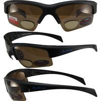 Global Vision Bifocal2 1.5 Bifocal Brown Polarized Lens Sunglasses Black Frame