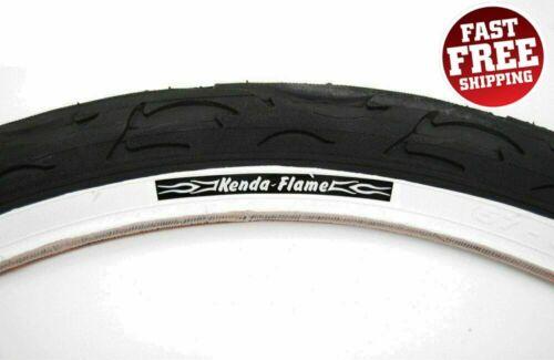 KENDA FLAME BIKE TIRE 26 X 2.125 BLACK//WHITE