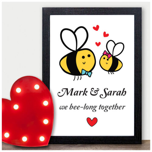 Personalised Gifts for Her Him Husband Wife Bee Couples Presents for Anniversary