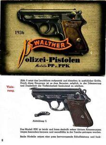 walther polizei pistolen modelle pp ppk 1936 manual german ebay rh ebay com
