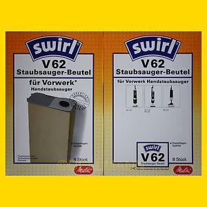 2-Pakete-SWIRL-V-62-Staubsaugerbeutel-V-62-16-Beutel