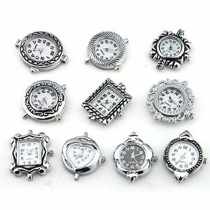 10pcs assorted silver plated quartz for beading
