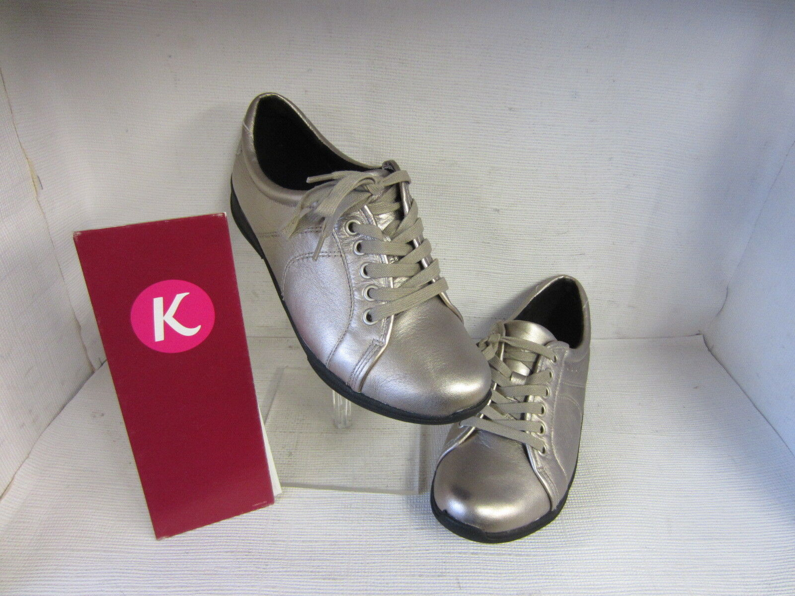 LADIES PEWTER K SHOES ETNA MUSK LACE UP PEWTER LADIES LEATHER UPPER FITTING E 81fa0d