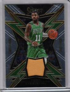 hot sales f10bb 83280 Details about 2017-18 Select Kyrie Irving Sparks Game Worn Jersey Celtics