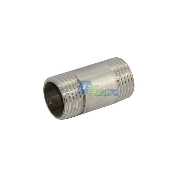"1/2"" Male x  1/2"" Male Threaded Pipe Fitting Stainless Steel SS304 NPT NEW"