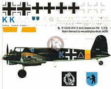Peddinghaus 1/72 Henschel Hs 129 B-1 Markings 5./SchlG 1 Konstantinovka '42 1332