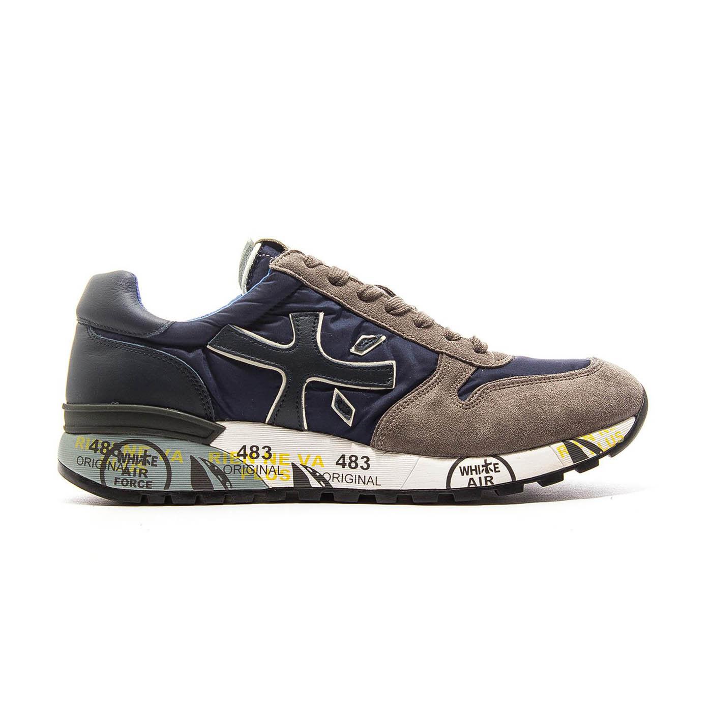 Premiata Mick 2326 Cuir - Tissu Italien Baskets blue - brown