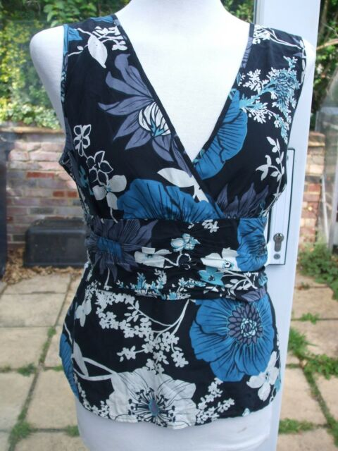 Gorgeous Floral Silk Mix Top- PRINCIPLES- 16 petite