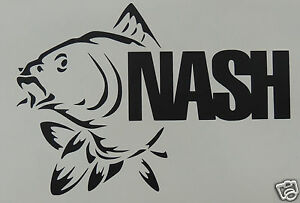 Details Zu Large Nash Fishing Logo Stickerdecal Fishinganglingcarp