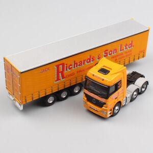 1-76-Escala-Corgi-Benz-Actros-contenedor-de-carga-camion-remolque-juguete-Diecast-Modelo-de-Coche