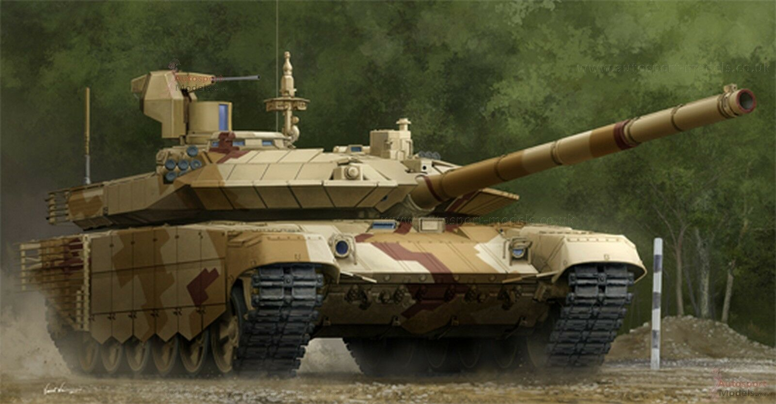 1 35 rysk T-90S modeRRIZED (Mod 2013) modelll kit av Trumpeter (09524