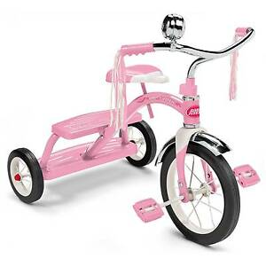 Radio Flyer 33p Classic Pink Dual Deck Tricycle Ages 2 5 Ebay