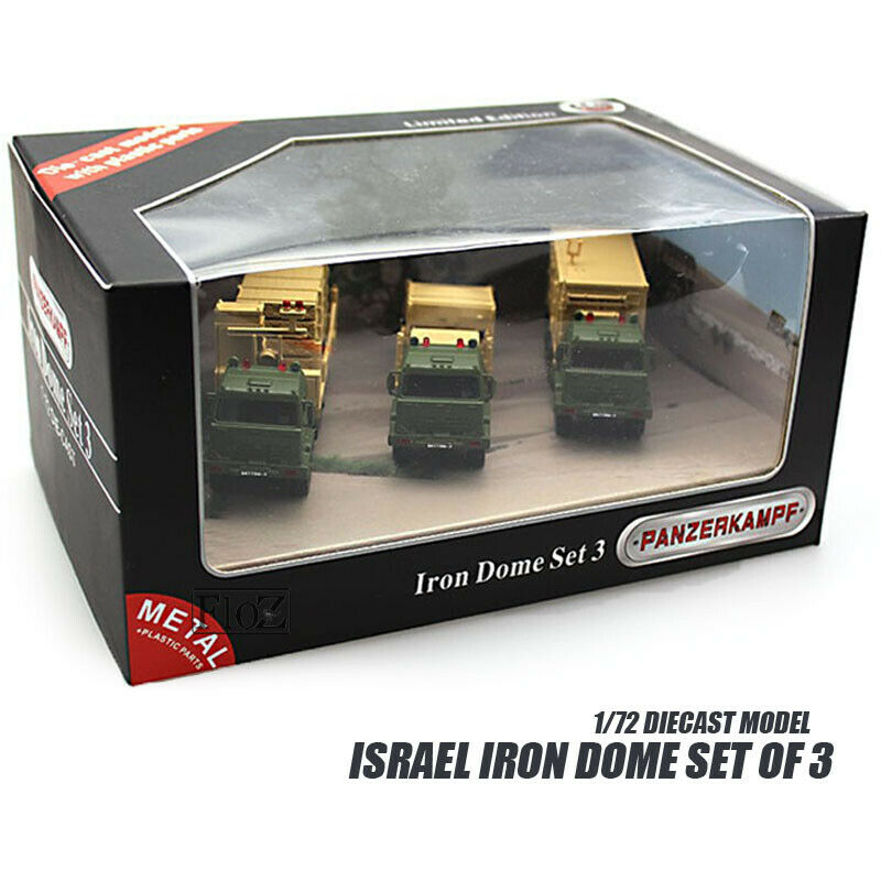 ISRAEL Iron Dome Set of 3 1 72 DIECAST MODEL FINISHED TANK Panzerkampf