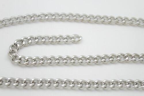 Women Club Fashion Belt Silver Thick Metal Chunky Chain Link Side Wave M L XL