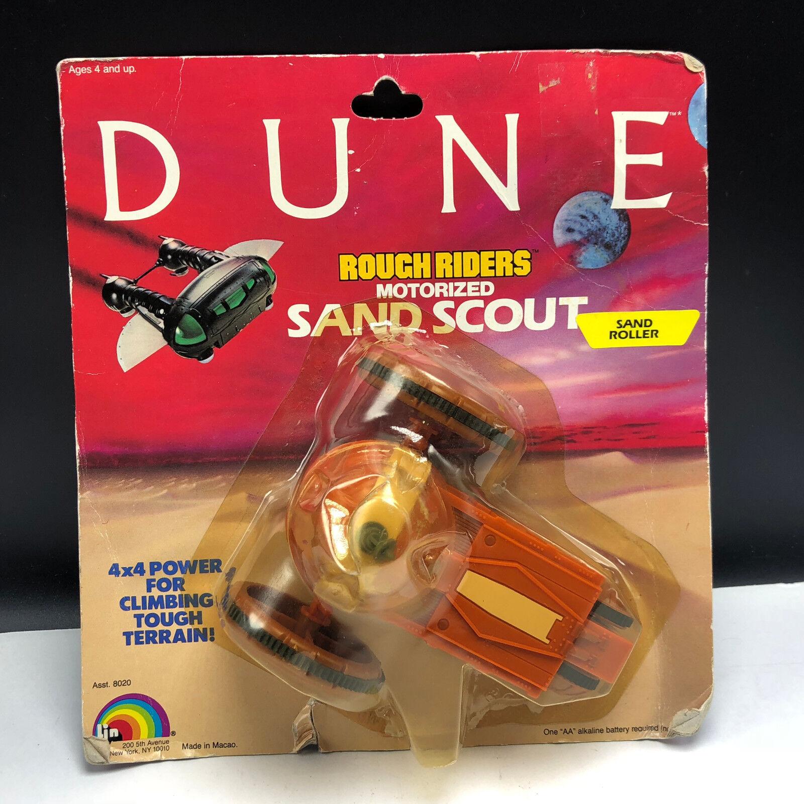 VINTAGE DUNE ACTION FIGURE 1984 LJN  MOC rough riders motorized sand scout roller  magnifique