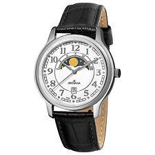 Grovana Swiss Made Mens True Moonphase Complication Quartz Dress Watch 1026.1533