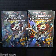 Transformers The Movie 20th Anniv DVD Complete w/ Hologram + Animated BONUS!