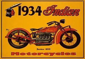Vintage Indian Motorcycle Ad (8) - Vintage Advertising Art