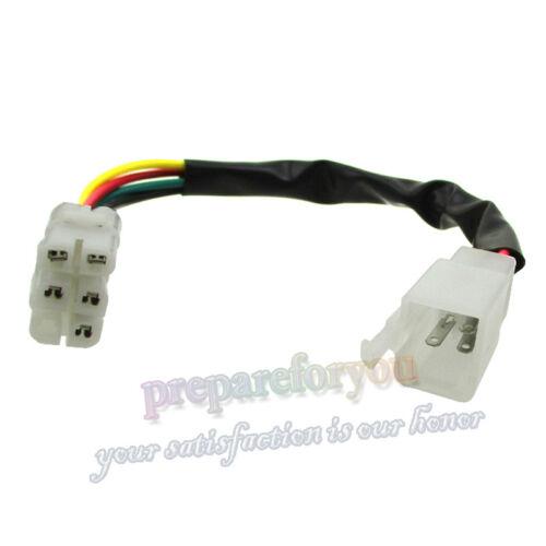 CDI Fil de Câble Adaptateur Connecteur Plug pour Pit Dirt Bike ATV Quad Scooter Cyclomoteur