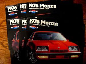 1976-Chevrolet-Monza-Sales-Brochure-LOT-6-pcs-MINT-Hatchback-Coupe