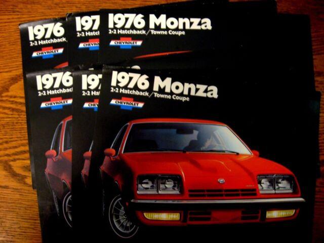 1976 Chevrolet Monza Sales Brochure LOT (6) pcs, MINT Hatchback Coupe