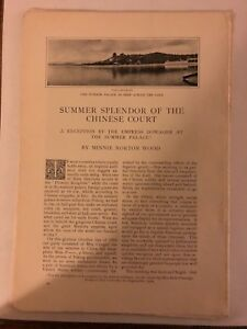 1904-Vintage-Magazine-Article-Summer-Splendor-of-the-Chinese-Court-Summer-Palace