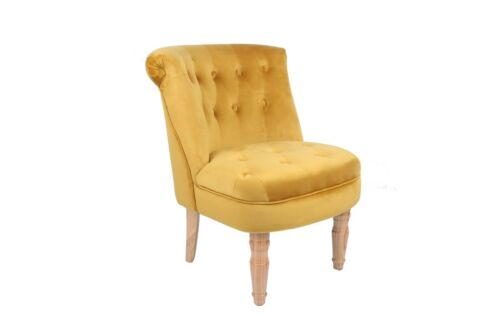 Charlotte Yellow Chair / French Style Mustard Chair / Chesterfield Style Seat