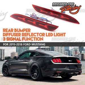 for 15 up ford mustang rear bumper led brake trun reverse signal