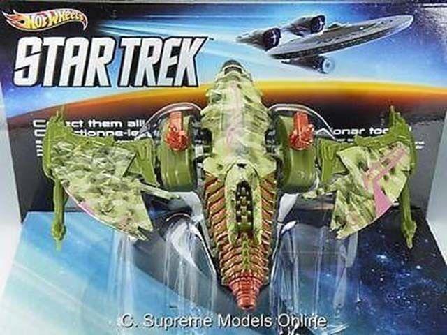 Ave de Presa Klingon Estrella Trek 1 50TH Escala Hotwheels ejemplo de película en caja T3412