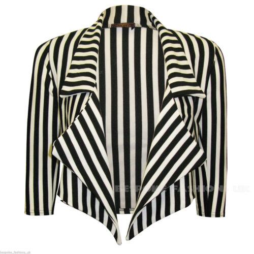 Ladies DELLE DONNE Halloween Costume Scheletro Stripe Blazer Beetlejuice UK 8-22