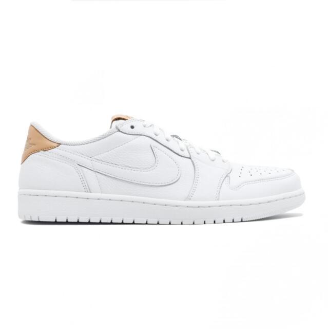 79a191ab7601 Nike Air Jordan 1 Retro Low OG Premium White vachetta Tan-wht 905136 ...