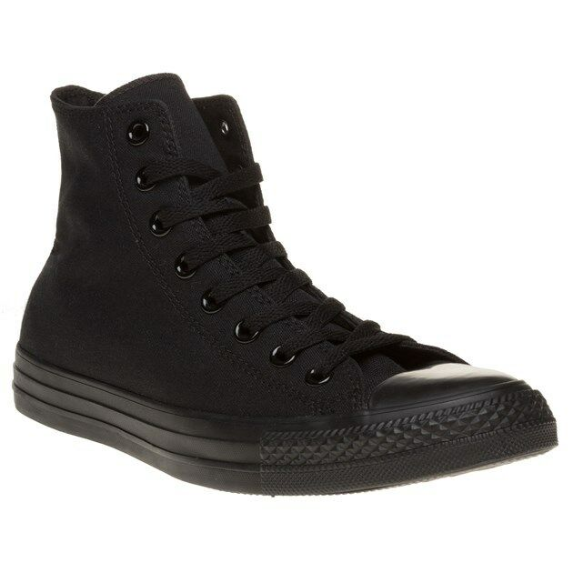 New Mens Converse Trainers schwarz All Star Hi Canvas Trainers Converse Lace Up 411d0b