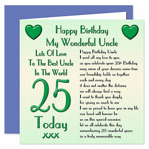Image Is Loading My Wonderful Uncle Happy Birthday Card Age Range
