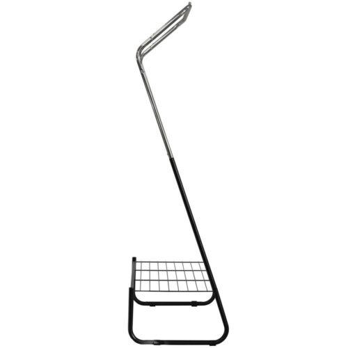 Open Armoire Métal//Vêtements Rail avec tablette-noir//blanc Bals 166