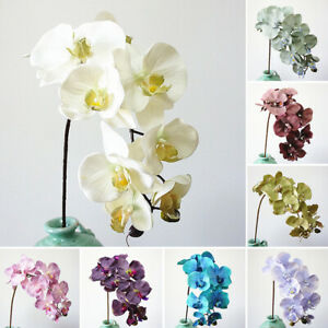 Am-10-Heads-Artificial-Butterfly-Orchid-Fake-Flower-Phalaenopsis-Home-Decor-Nov