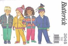 Butterick Sewing Pattern # 3045 Child's Jacket Pants and Hat Size 5-6-6X